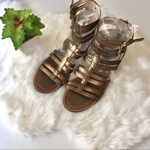 Banana Republic Aniya Metallic Gladiator Sandals